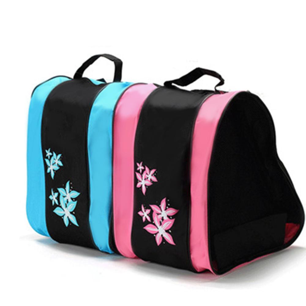 Ice Roller Blade Skate Skating Shoes Shoulder Strap Carry Bag Holder Case Three-Layer