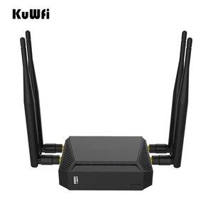 Image 4 - Kuwfi 3g/4g sim slot para cartão wifi roteador openwrt 300mbps roteador sem fio de alta potência repetidor com função vpn e 4 * antena 5dbi