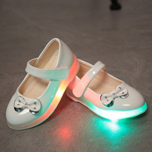 Children Fluorescent Shoes Led Luminous USB Charging Dance Night Fashion Casual 7 Colors Shoes Free Shipping