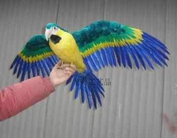 simulation parrot feathers bird large 60cm spreading wings parrot model,photography,teaching props,decoration a1919