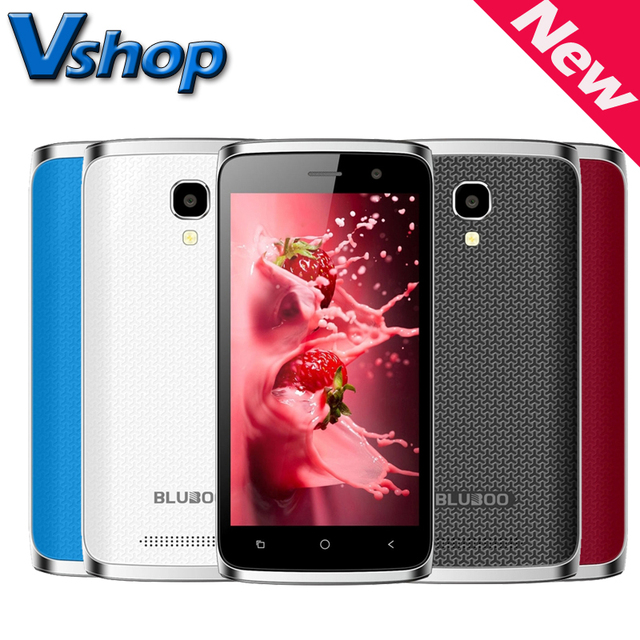 Original BLUBOO Mini 4.5' 3G WCDMA Android 6.0 MTK6580M Quad Core 1.3GHz RAM 1GB ROM 8GB 5MP Camera Dual SIM Smartphone GPS FM