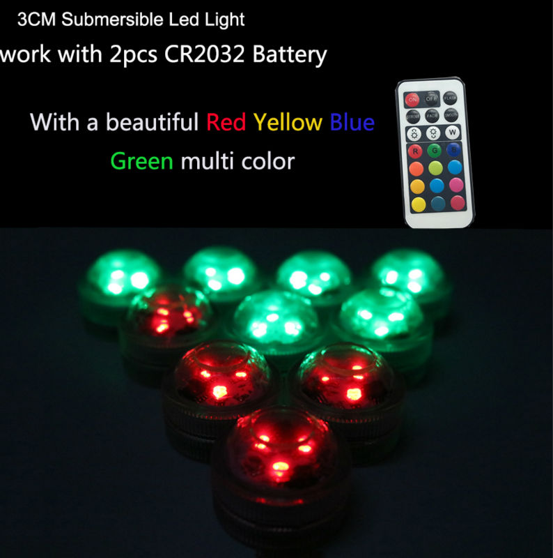 13 colors changing 100pcs/pack LED SUBMERSIBLE Floralyte Lights party Halloween decor waterproof candle led light