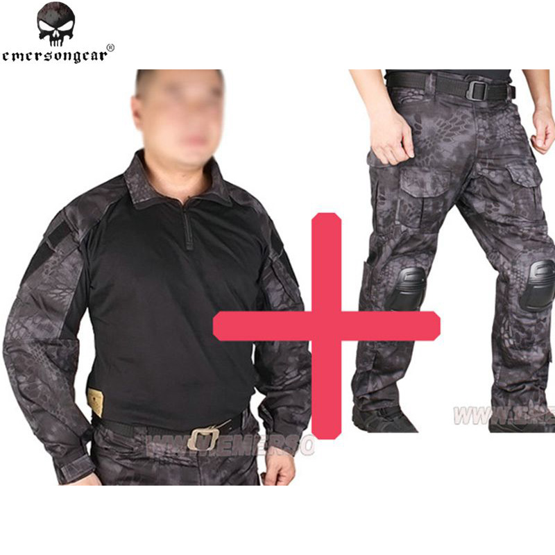 Emersongear BDU G3 Uniform Shirt & Pants with Knee Pads Emerson BDU Airsoft War-game Uniform TYP Ghillie Suits EM7036 EM8586 us army digital desert camo bdu uniform set war game tactical combat shirt pants ghillie suits
