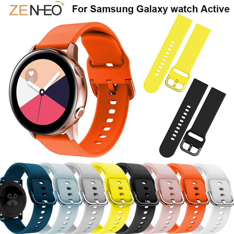20mm Silicone Watch Bands For Galaxy 42mm Straps S2 Gear Sport Watch Strap For Samsung Galaxy Watch Active 2 Wristband Bracelet