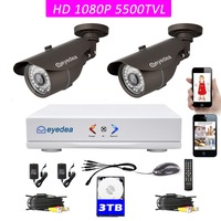 Eyedea 4CH HDMI AHD Motion Detect DVR 1080P 2 0MP 5500TVL 960P 720P 960H Phone View
