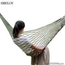 Ultralight Portable travel Nylon Hammock swing Outdoor Camping Garden Hanging Mesh Net Sleeping Bed Swing Green Red 270*80cm