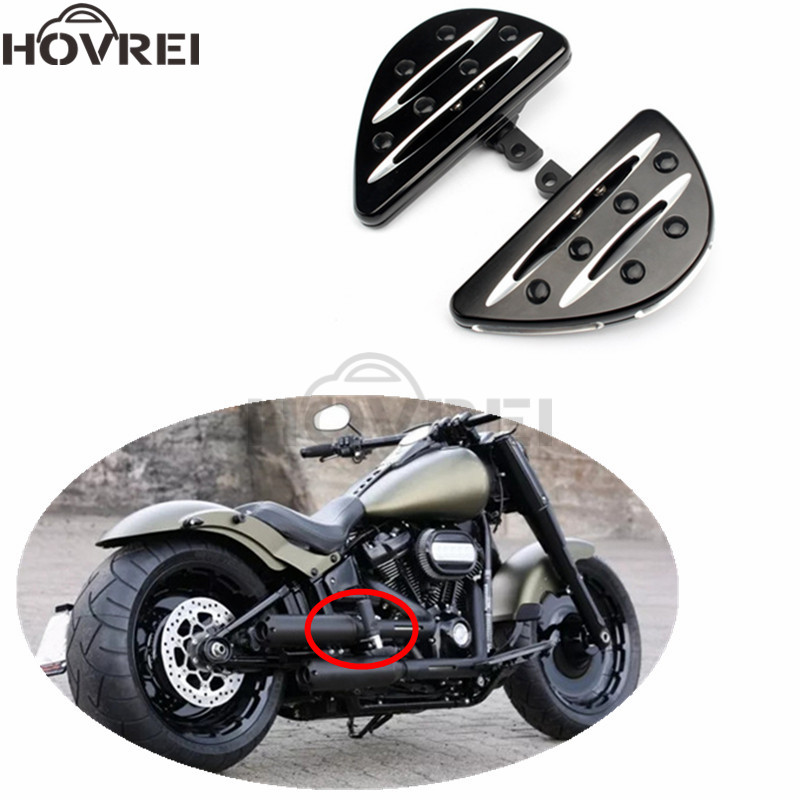Motorcycle Aluminum Foot pegs Male Mount Foot rests Floorboard for Harley Touring FLH Road King Dyna