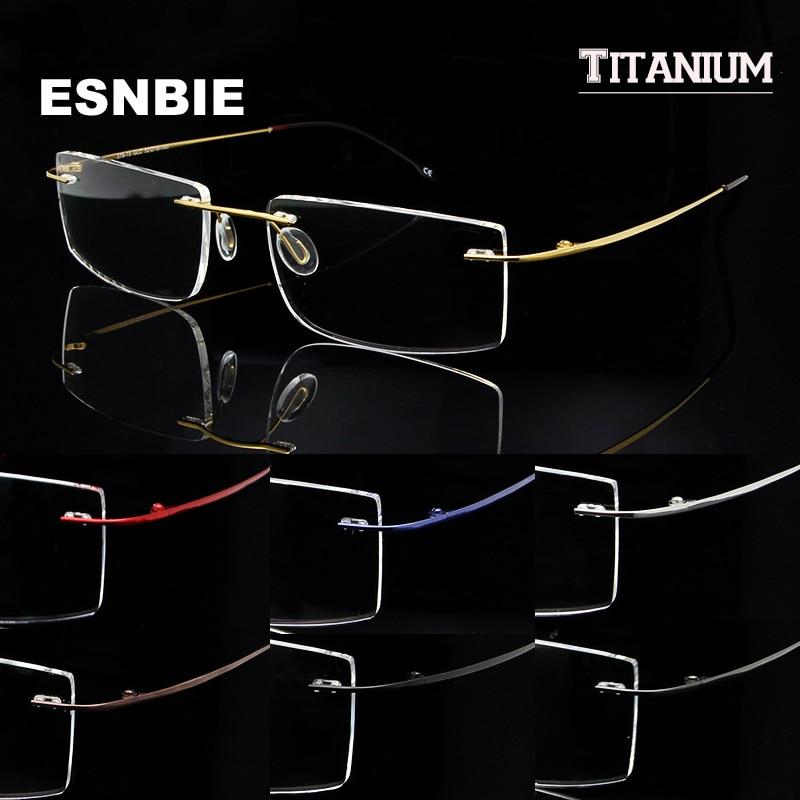 SKY&SEA OPTICAL Memory Titanium Glasses Frame Men Rimless Eyewear Frames oculos de grau Mens Women Clear Lens