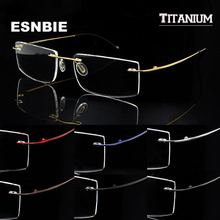 SKY&SEA OPTICAL Memory Titanium Glasses Frame Men Rimless Eyewear Frames oculos de grau Mens Women Clear Lens