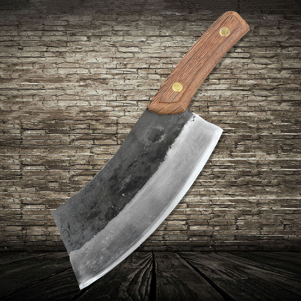 XITUO Cuisine Chef Couteau haute manganèse acier dureté Vêtu En Acier Forgé lame Boucher Couper Os de Boeuf Viande couteau Couperet Chinois