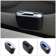 1 pçs carro de lixo para automóvel balde de armazenamento de lixo auto lata de lixo caixa de lixo caso organizador do carro acessórios do carro estilo