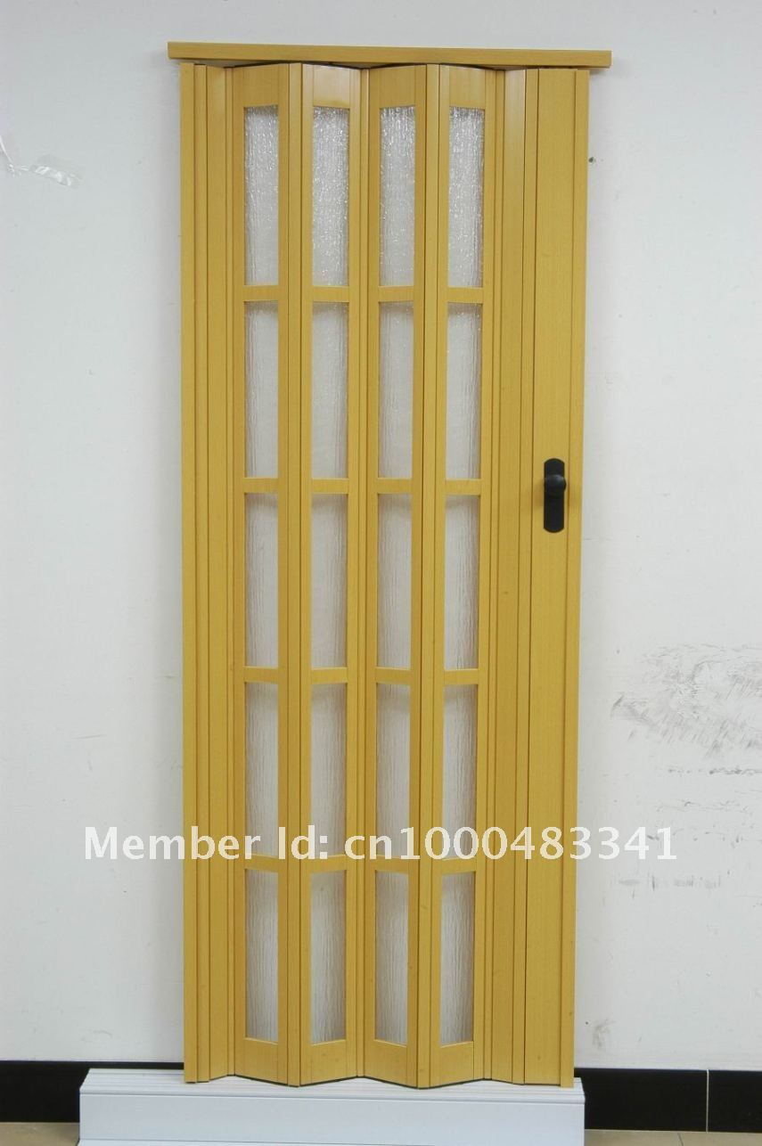Accordion door 1pcs freeshipping pvc folding door l06 for Plastic french doors
