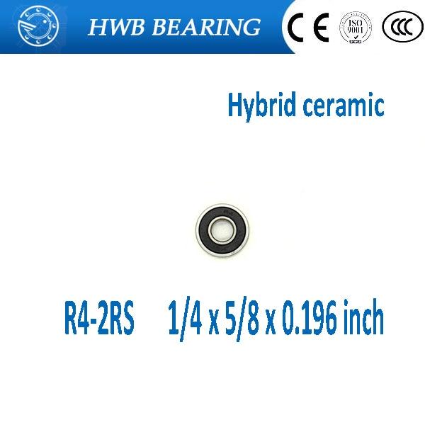 Free shipping R4-2RS R4 hybrid ceramic deep groove ball bearing 6.35x15.875x4.978mm  R4-2RS axk free shipping 1pcs 6901 2rs hybrid ceramic si3n4 ball 61901 ceramic bearing 12 24 6mm 6901 2rs
