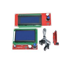 Image 2 - Controlador de piezas inteligentes rampas 1,4 LCD 12864, Panel de Control LCD 12864/2004, Monitor de pantalla, placa base, módulo de pantalla azul, 1 ud.