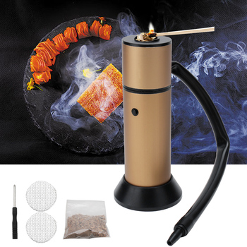 BBQ Meat Food Smoker Cold Smoke Generator for Salmon Fish Bacon Food Smoking Gun Kitchen Grill Cooking Tools with Wood Chips