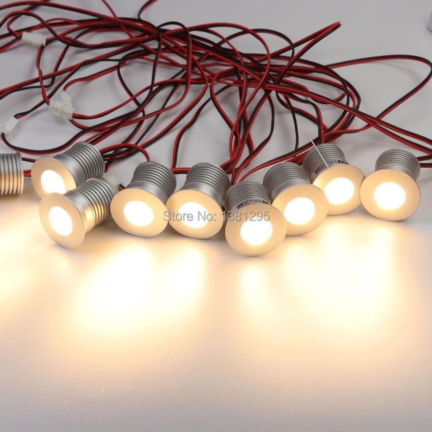 9 pcs/ensemble LED Sous L'éclairage Du Cabinet Dimmable Mini LED Encastré Vitrine Éclairage Sous Comptoir Étagère Meubles Cuisine Lumières 3 w - 3