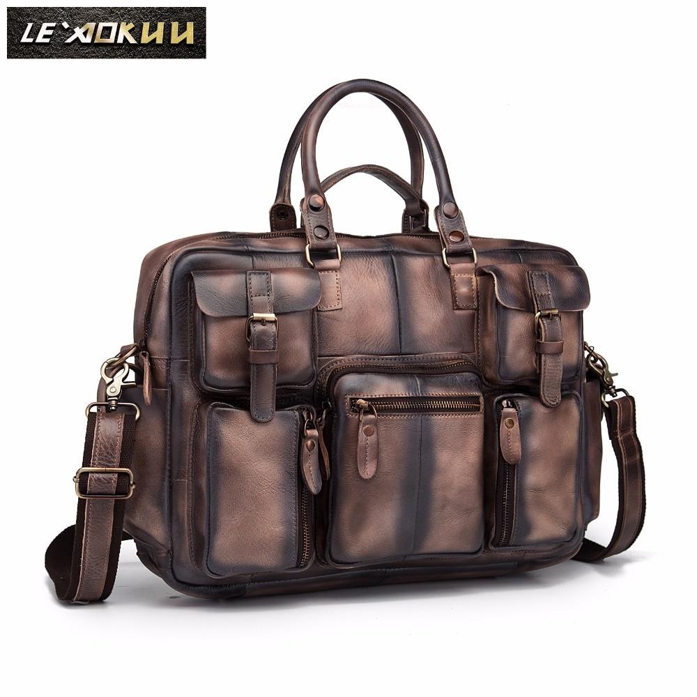 2012 fashion vintage galen häst läder handväska resväskan manliga - Väskor för bagage och resor - Foto 2