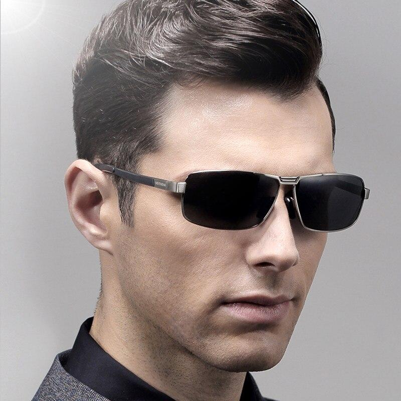 VEITHDIA Brand designer 2018 Square Sunglasses Men Polarized Vintage Sun Glasses oculos de sol Eyewear shades