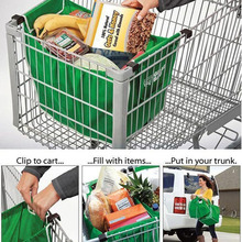 250 шт./лот Складной Экологичные Многоразовые Большая Тележка Супермаркета Сумки Большой емкости