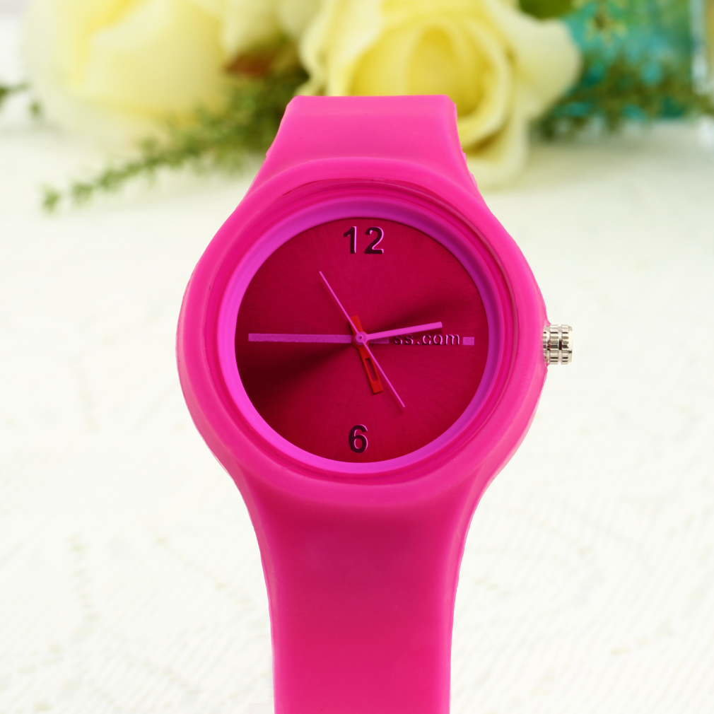 Watches Unisex Sports Candy Wrist Watch Creative Blue Rose Red Color Activity For Boys And Girls Chirdren Kids Gifts