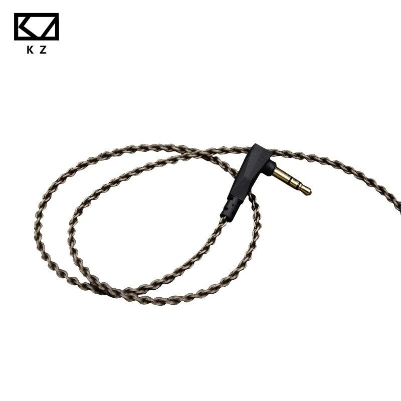 KZ ZS3/ZS4/ZS5/ZS6 1,2 Mt Hochreiner Sauerstoff Freies Kupfer Headset Silber Überzogene Draht 0,75mm Pin Upgrade Kabel Für Ursprünglichen Offiziellen