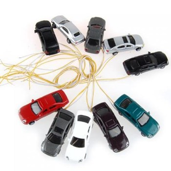 10 rooms painted light burning car model scale cable w / N (1 - 150) image