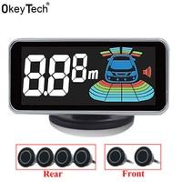 OkeyTech 6 Sensors Parktronic Parking Sensor Reversing Radar Detector LED Digital Auto Parking Assistance Alarm System