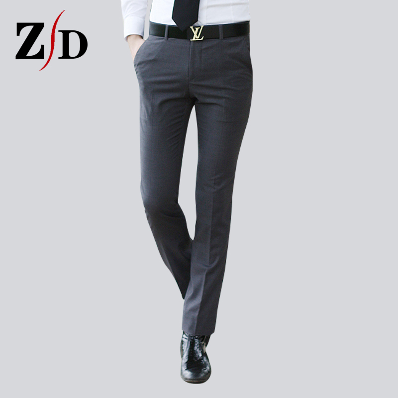Business suits men's trousers Slim trousers iron straight suit pants spring