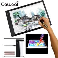 A4 Third Gear Dimming DC LED Painting Board Writing Tablet Art Stencil Drawing Display Board Light Box Table Drawing Tablet Thin