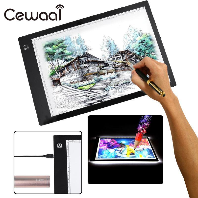 A4 Third Gear Dimming DC LED Painting Board Writing Tablet