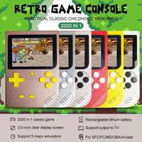 2000 In 1 Retro Mini Handheld Game Console Color LCD Kids Color Game Player SUP Built in 5 Large Simulator For GBA Arcade FC