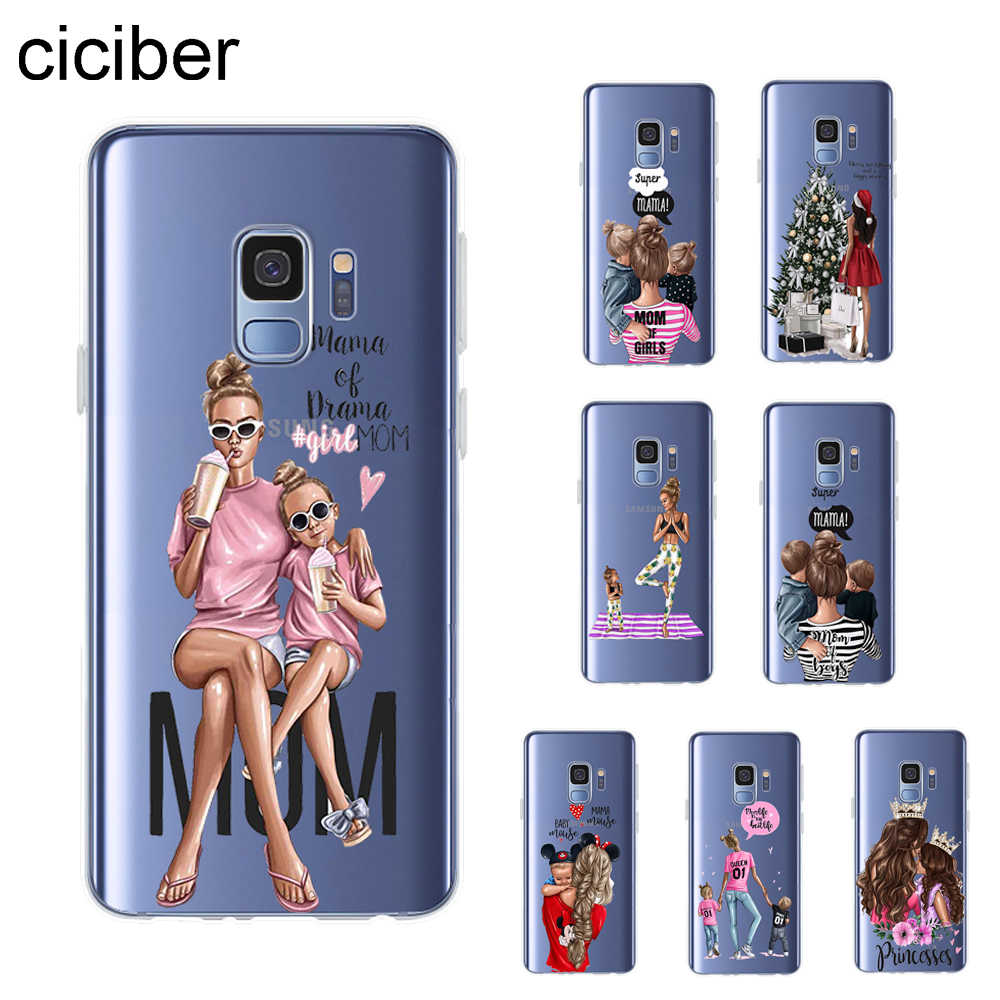 Ciciber Fashion Queen Ibu Gadis Phone Case untuk Samsung Galaxy S9 S8 S7 S6 S5 Edge Plus Mini Cover Lembut silikon TPU Fundas Coque