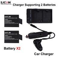 SJCAM 2 предмета 3.7 В литий-ионный Батарея + двойной Зарядное устройство машины Зарядное устройство для SJCAM sj5000 серии SJ4000 серии M10 серии спорт де...