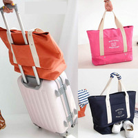 32L Large Capacity Luggage Packing Tote Shoulder Travel Shopping Big Bag Folding Clothes Storage Pouch