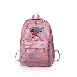 Mochila infantil lasera szkoła torby holograficzny torba plecak szkolny dla dziewczynek plecak szkolny torba dla dzieci plecaki dla dzieci 3