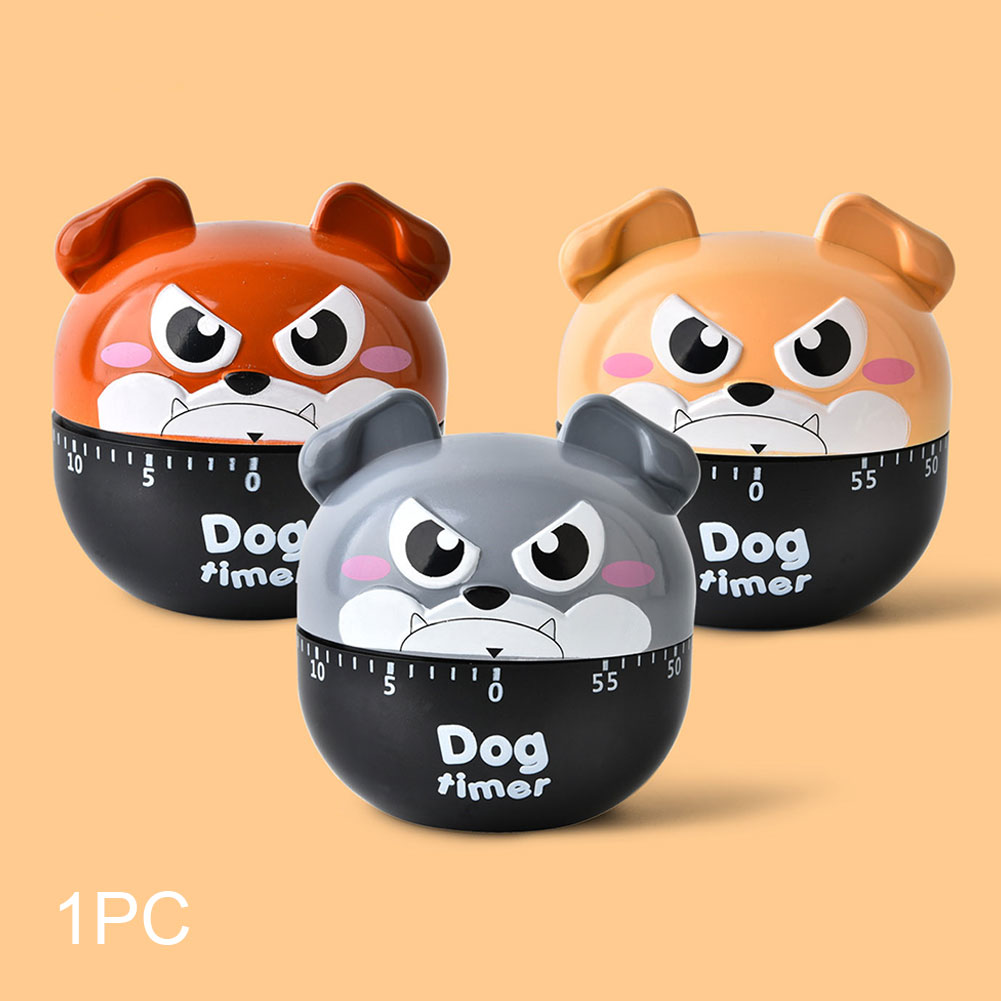 Clock Multifunctional Exercise Cooking Home Supplies 60 Minutes Kitchen Timer Cartoon Dog Mechanical Alarm Small Reminder Study