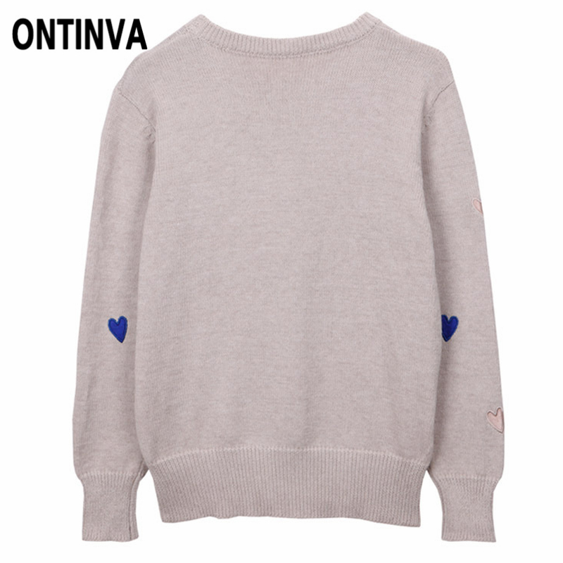 212c65f6c0a US $22.88 35% OFF Women Cute Sweaters 2019 Fall Embroidery Loose Pull Femme  Pullover Plus Size XXL 4XL Basic Long Sleeve Knitwear Ladies Jumpers-in ...
