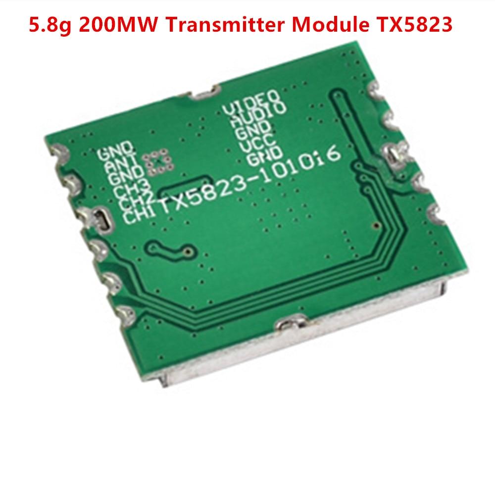 Boscam FPV 5.8Ghz 200mW 8CH Wireless Audio Video Transmitter Module TX5823 For racing drone ZMR250 QAV280 QAV250 DIY