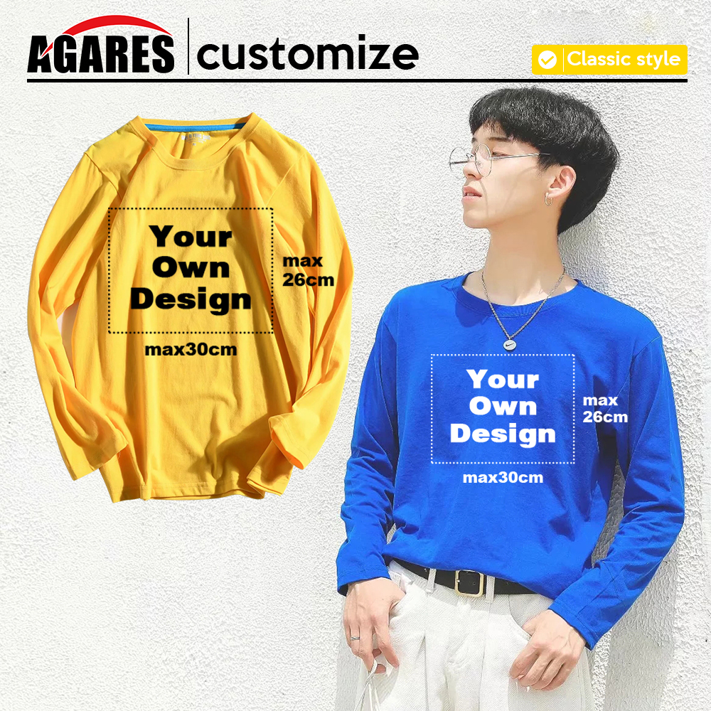 2019 Your OWN Design Brand Logo/Picture White Custom Men And Women Long Sleeve T-shirt Plus Size Tops Men Clothing S-8