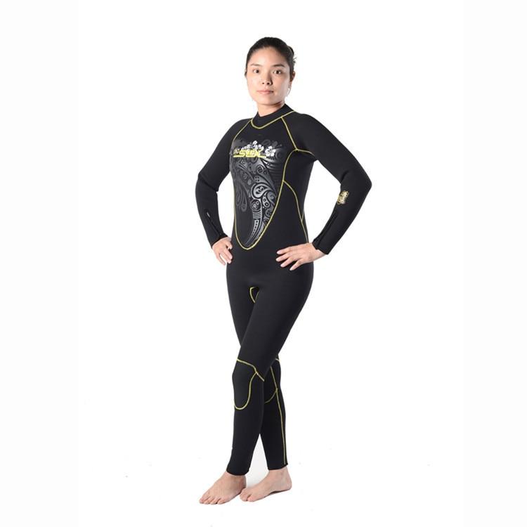 Slinx 5mm wetsuis femmes aqualung néoprène plongée équipement surf humide costume salopette combinaison costumes pour l'eau froide
