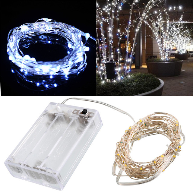 4M 13FT 40led 3 AA Battery Powered Decoration LED Copper Wire Fairy ...