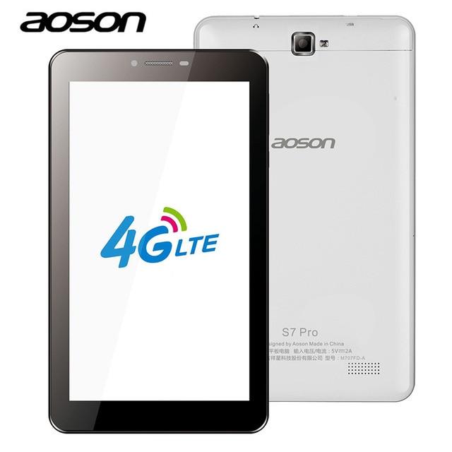 AOSON S7 Pro 7 дюймов 4 г LTE-FDD Phablet 8 ГБ ROM HD ips-экран Android 6.0 телефонный звонок Tablet ПК четырехъядерный процессор Dual Camera Wi-Fi mirousb