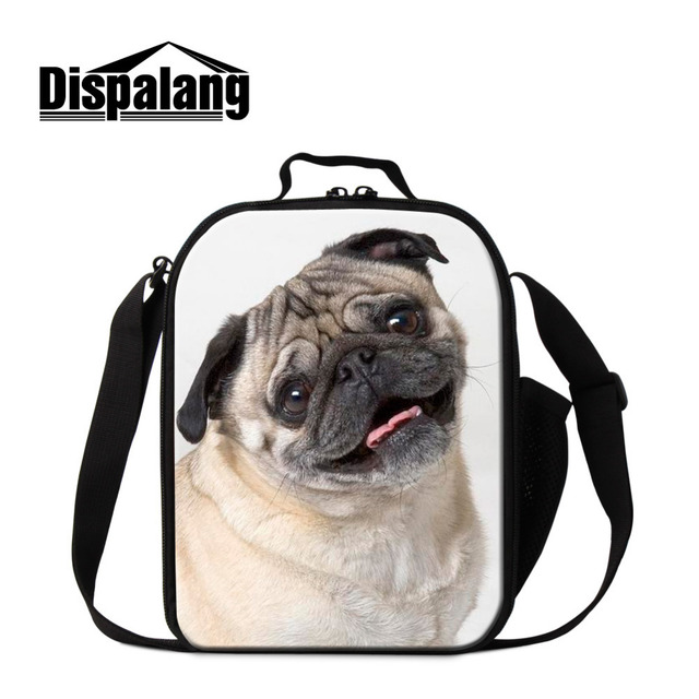 Dispalang Cute Dog Print Kids Lunch Bag Small Thermal Lunchbag For Women Animal Thermal Insulated Lunch Box Girls Meal Package