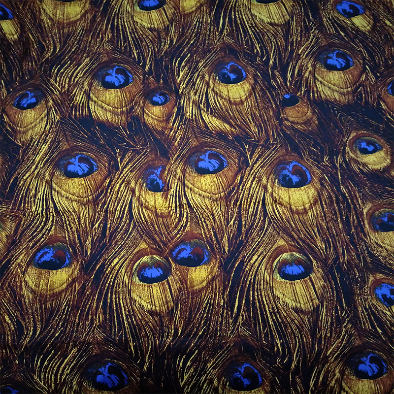 100X145cm Japanese Style Retro Peacock Feathers Yellow Cotton Satin Fabrics for Woman Summer Dresses Shirt DIY-AF038100X145cm Japanese Style Retro Peacock Feathers Yellow Cotton Satin Fabrics for Woman Summer Dresses Shirt DIY-AF038