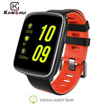 Kaimorui GV68 Smart Watch Ip68 Waterproof Heart Rate Monitor Bluetooth Smartwatch Replaceable Straps for IOS Android Phone