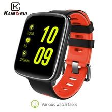 Купить с кэшбэком Kaimorui GV68 Smart Watch Ip68 Waterproof Heart Rate Monitor Bluetooth Smartwatch Replaceable Straps for IOS Android Phone