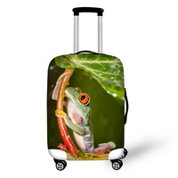 Frog Animals Print luggage protector cover suitcases covers Waterproof luggage covers accessory bags travel trolley case cover