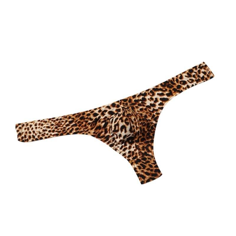 G-Strings Male Leopard Print Low-Rise Man Comfortable Underwear 2019 New