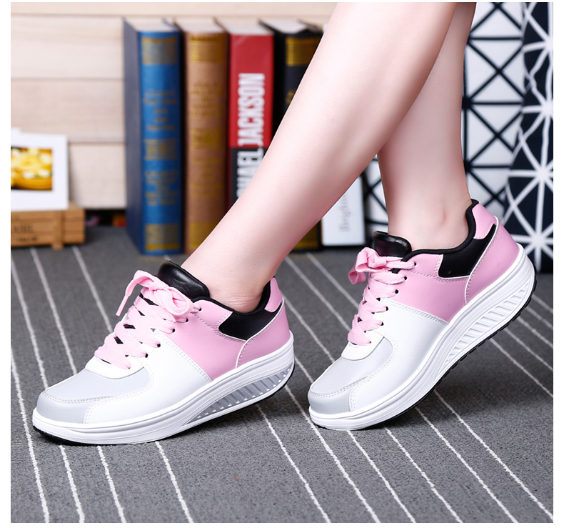 Patchwork Shake Shoes Woman New Leather Platform Women Casual Shoes Lace Up Slimming Ladies Shoes Size 35-40 Walking Shoes ZD61 (14)
