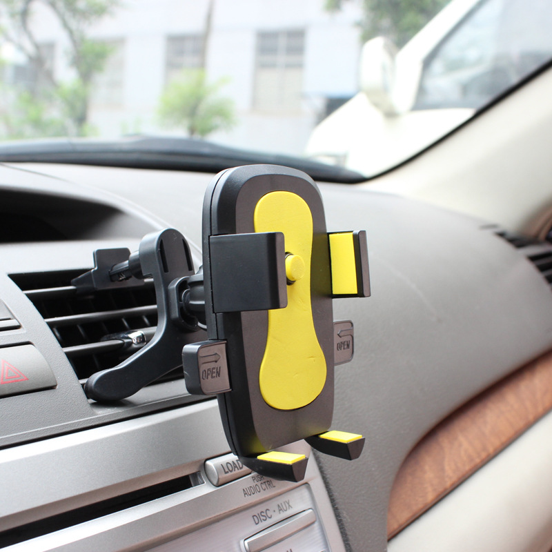 Car Air Vent Mount Stand For IPhone Samsung Mobile Phone Cradle Mount Phone Holder Support 360 Degree Rotation Phone Accessory